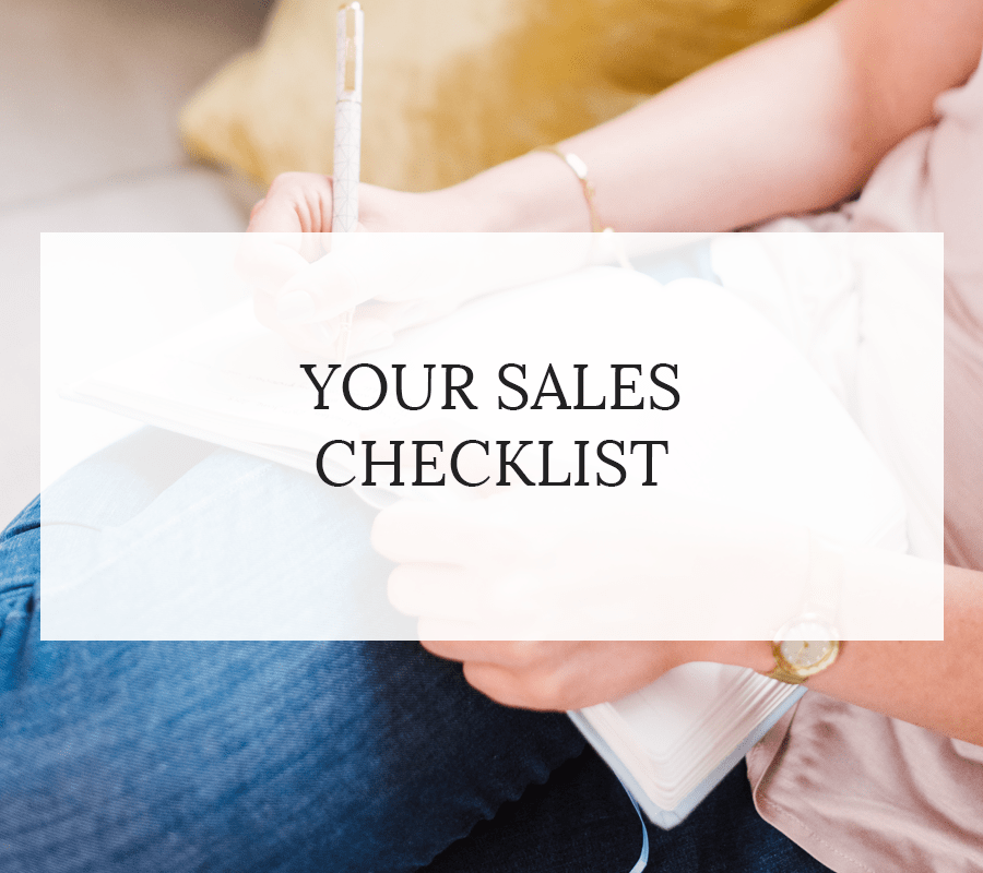 YOUR SALES CHECKLIST