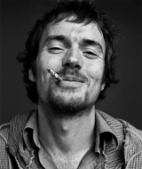 Damien Rice Black and White Headshot