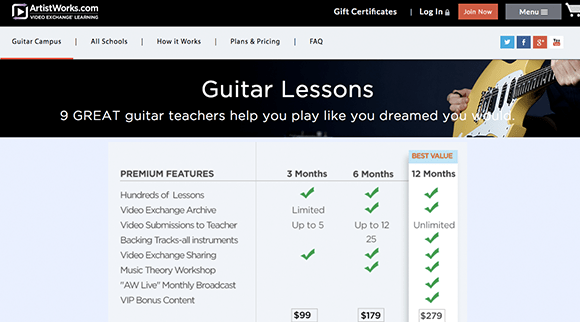 Learn Guitar with ArtistWorks---The-Top-5-Beginner-Guitar-Lessons-Series