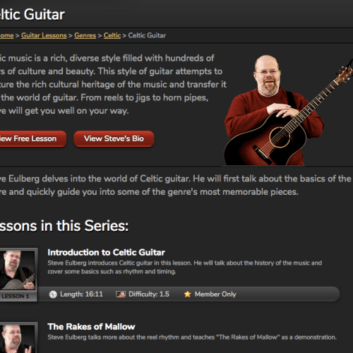 Learn Celtic Guitar - Irish Traditional Music - Video Lessons