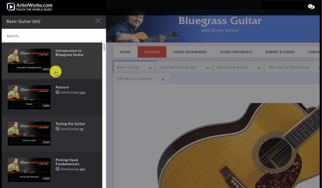 Basic Guitar screenshot from Flatpick Guitar With Bryan Sutton