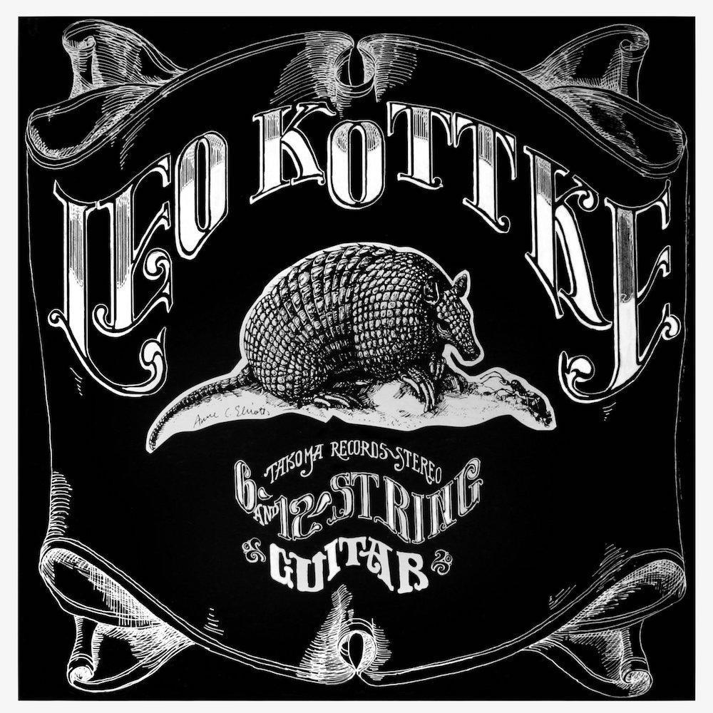 "Album cover (front) for Leo Kottke's ""6- and 12-string Guitar"""