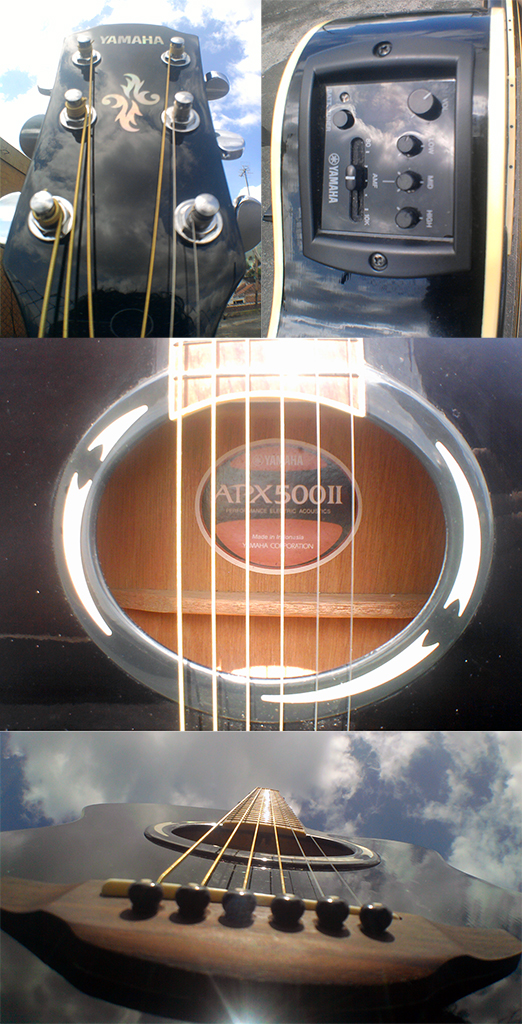 apx500ii guitar section