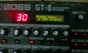 boss gt-8 effects chain external loop