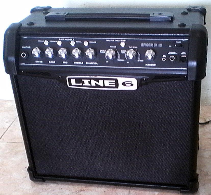 line 6 spider iv 15 watt amp yes it 39 s loud. Black Bedroom Furniture Sets. Home Design Ideas