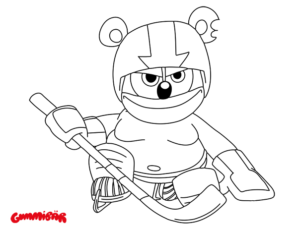 Download a Free Printable Gummibär November Coloring Page