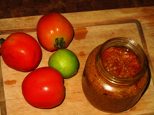 Tomato Pickle with Sesame and Radish Seed