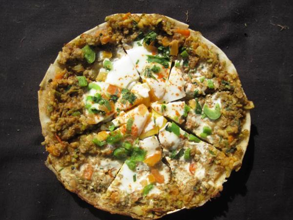 keema chatamari nepali pizza