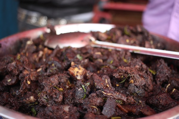 Katnausi: meat of pig or wild board sometime cooked with blood