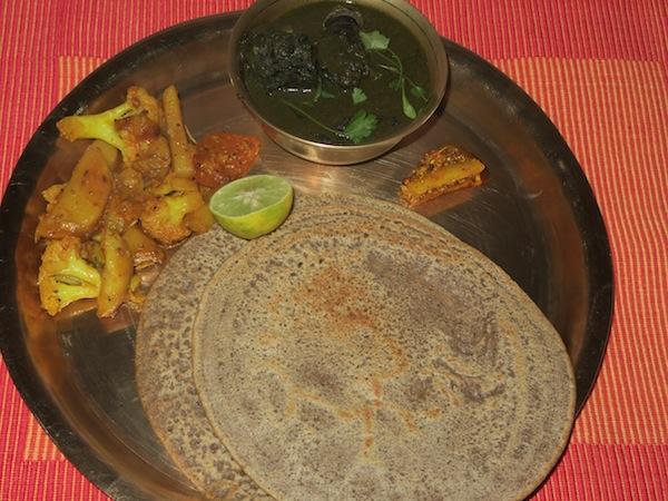 buckwheat pancake and dhopra daal