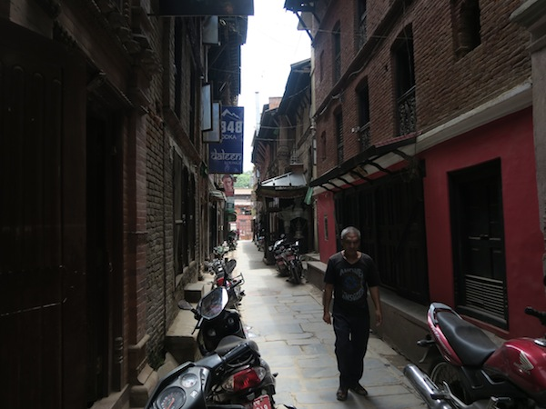 alley to sweets shop