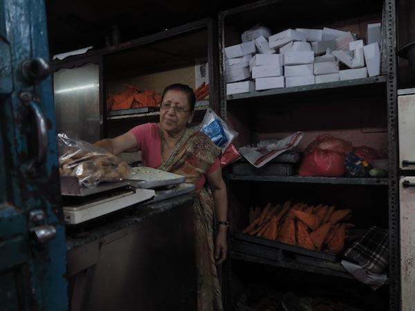 selling Newari sweets