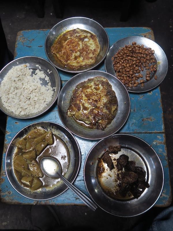 newari food items at Honacha