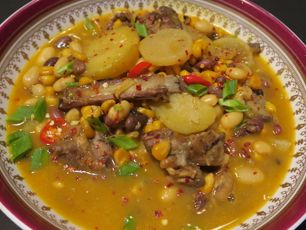 Sherpa maize and bean stew