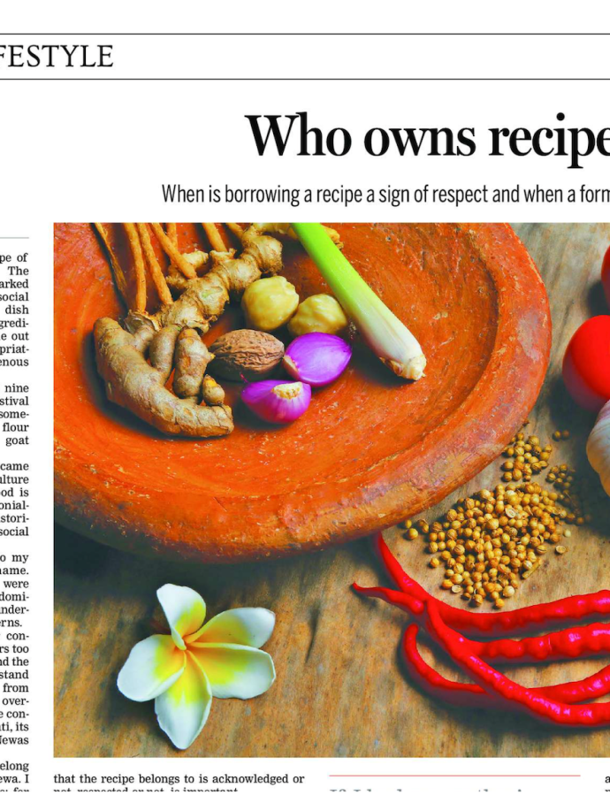 Who owns recipes?