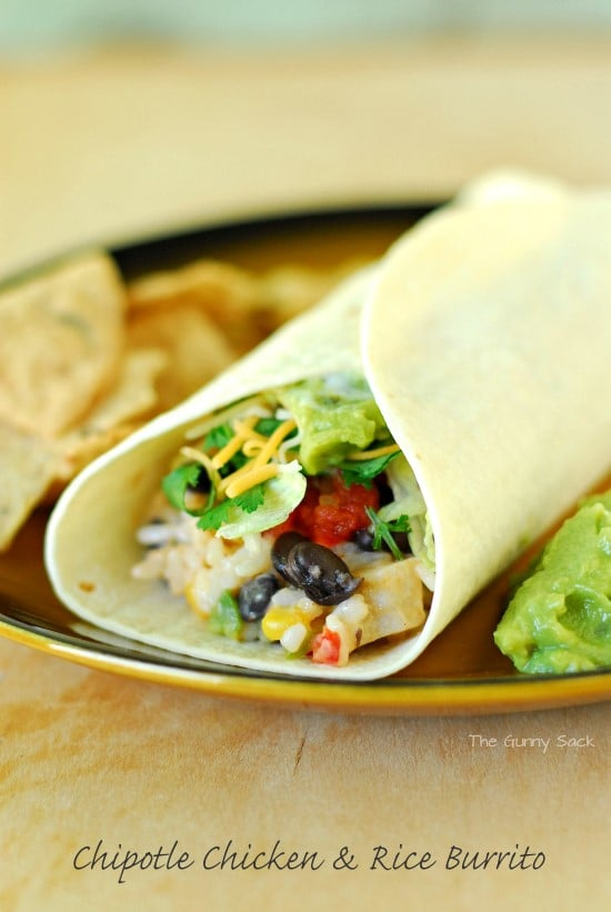 lunchtime creativity: chipotle chicken rice