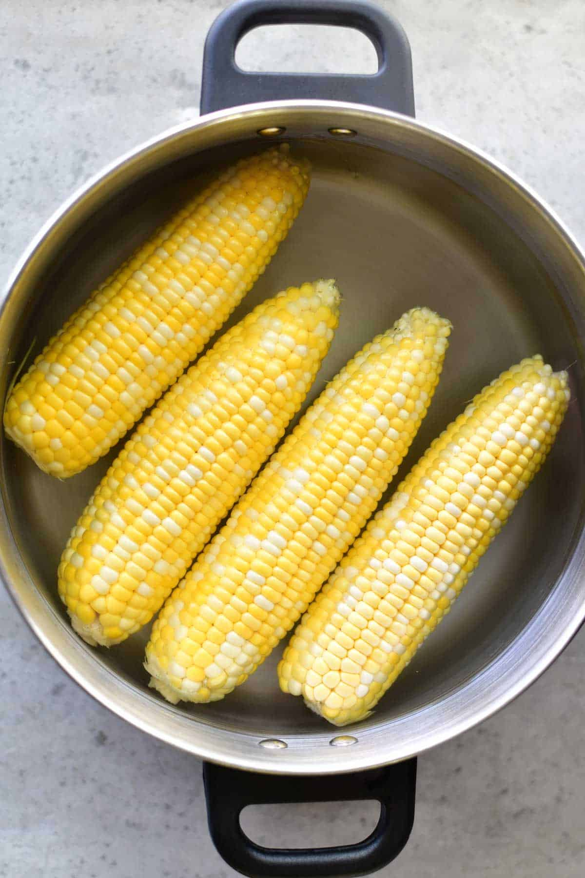 Boiled Corn On The Cob - The Gunny Sack