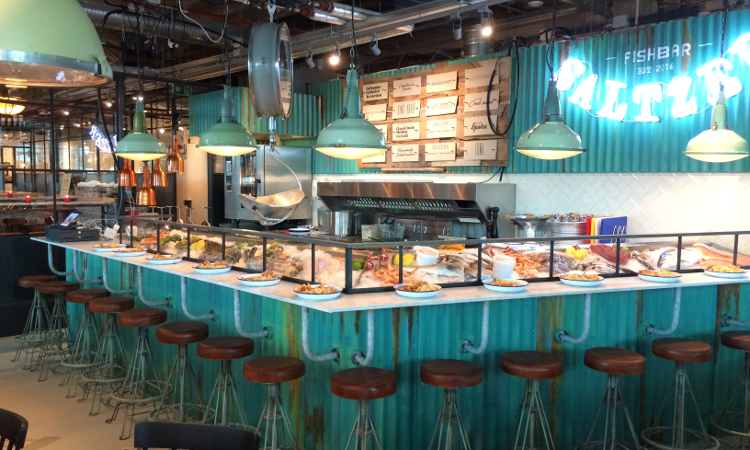 Grand Central Food Market | Fish-, burger- en wijnbar