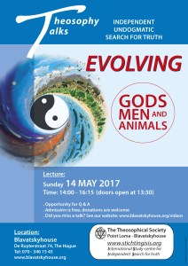 Theosophy Talks: Evolving gods, men and animal @ Blavatskyhouse