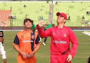 Dutch cricket team play one-day series against Zimbabwe @ Voorburg Cricket club