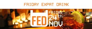 FED Friday Expat Drink in Gember @ Restaurant Gember