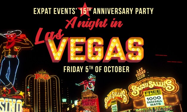 EXPAT EVENTS CELEBRATES 15 year anniversary with 'A Night in Las Vegas Party