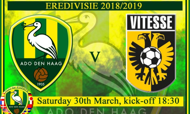 ADO Den Haag Needs Your Support This Saturday!