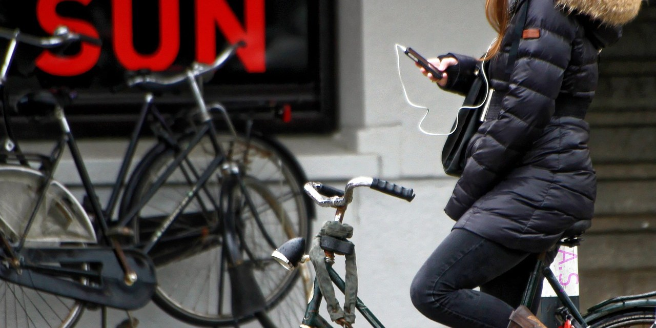 Phone Use Forbidden While Cycling From July 1