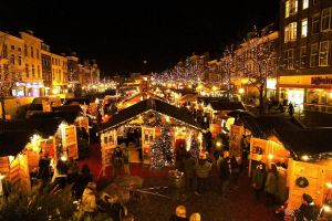 Floating Christmas Markets at Leiden