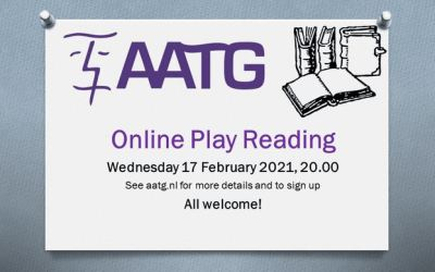 February online play reading – Wednesday 17 February 2021