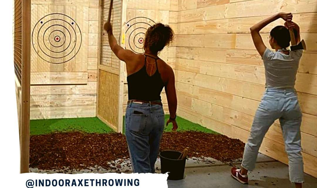 Have you ever tried axe throwing: Join THEHAGUEONLINE SOCIAL CLUB for a Night of fun @ Axes indoor axe throwing bar