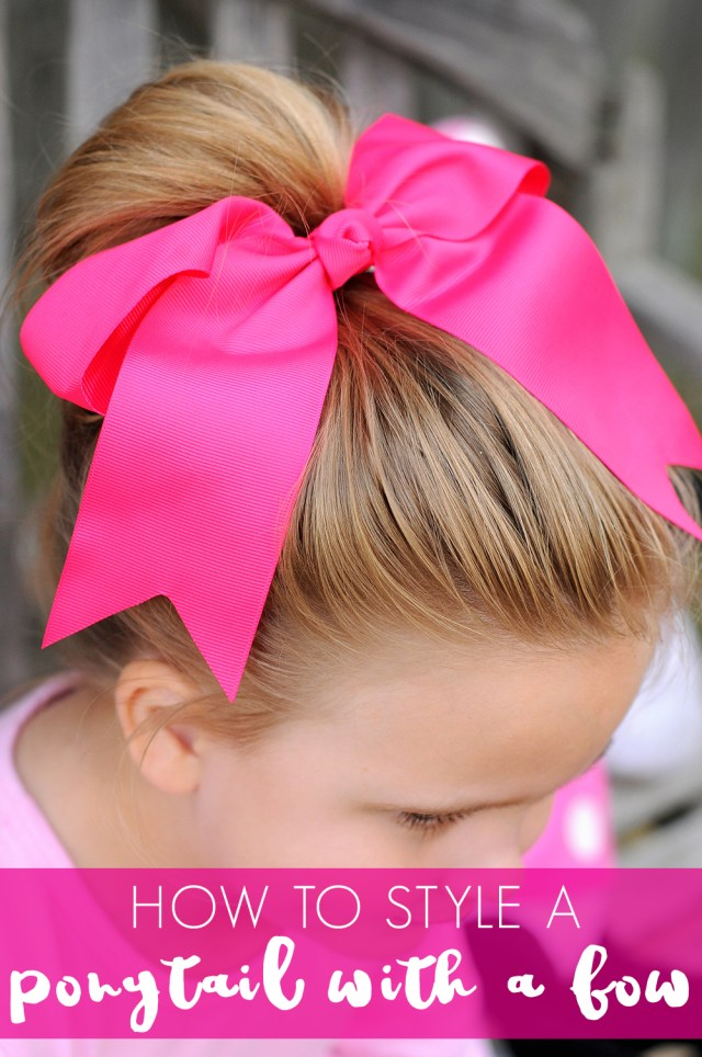 simple ways to use hair bows in your little girl's hair