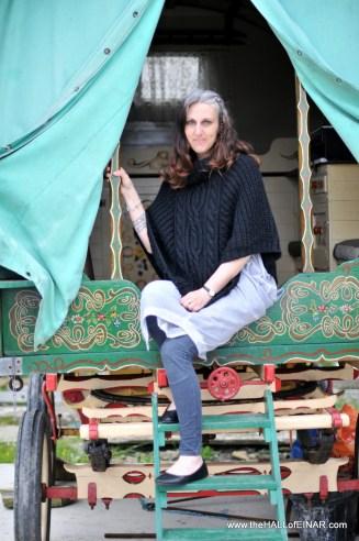 Alicen Geddes in her Gypsy caravan - alicen-geddes.co.uk