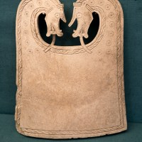 A beautiful whalebone plaque from an Orkney Viking boat burial