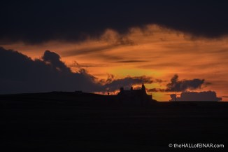 Sunset - The Hall of Einar - photograph (c) David Bailey (not the)
