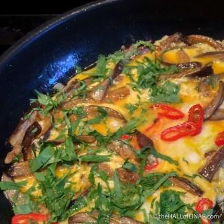 Oyster Mushroom Omelette - The Hall of Einar