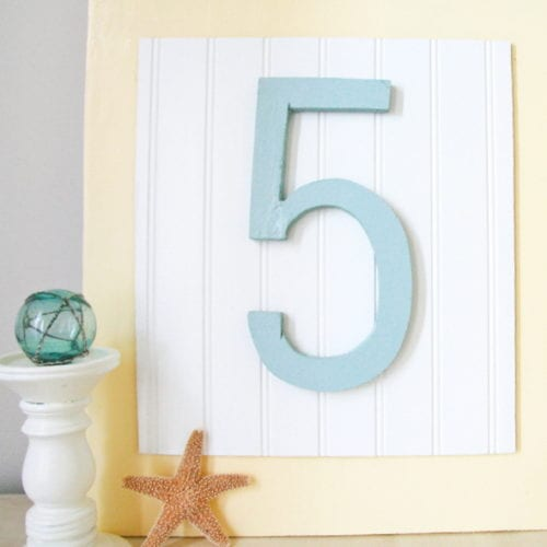 wooden numbers : a quickie