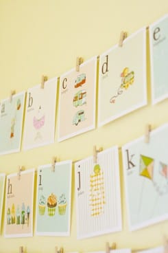 kids alphabet cards - free