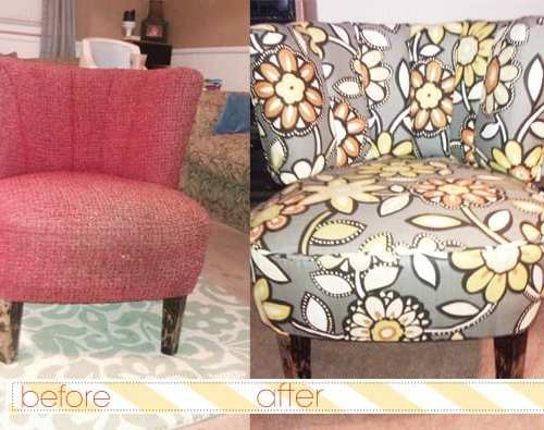 the five dollar flip : a clever chair redo.