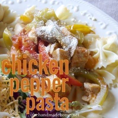 chicken pepper pasta (chicken pasta recipe)