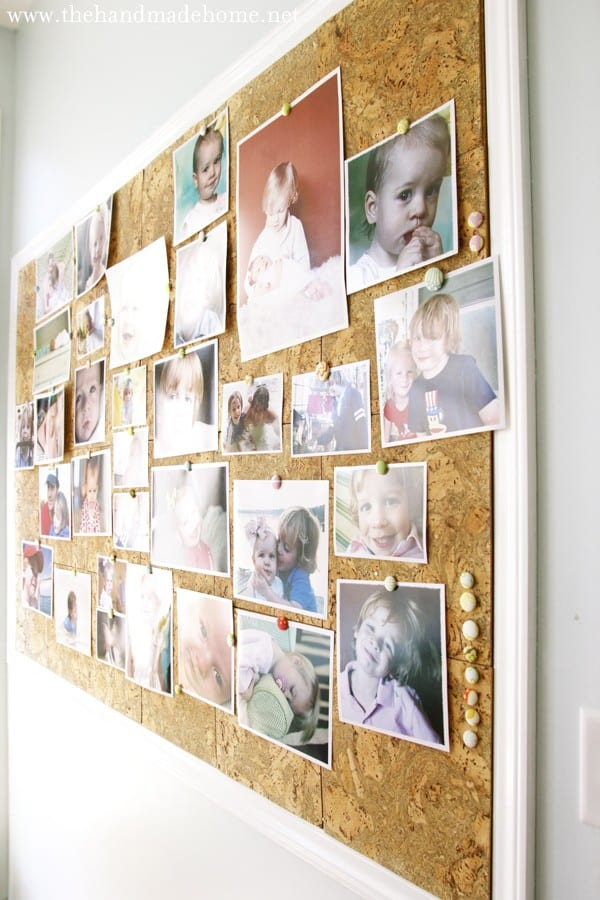 decorating with photos  a custom cork board