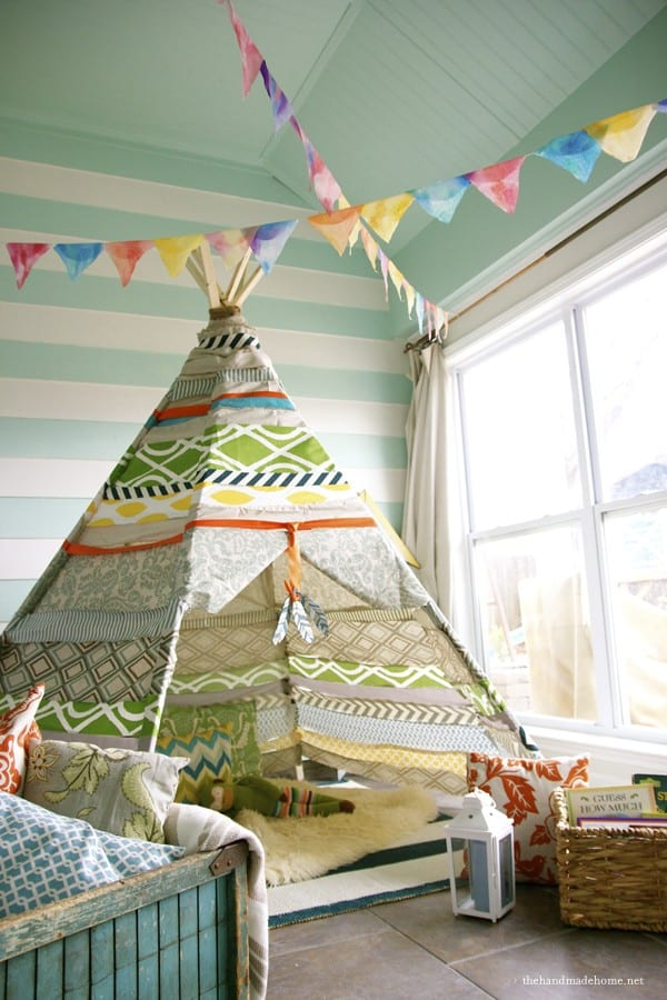 make a no sew teepee