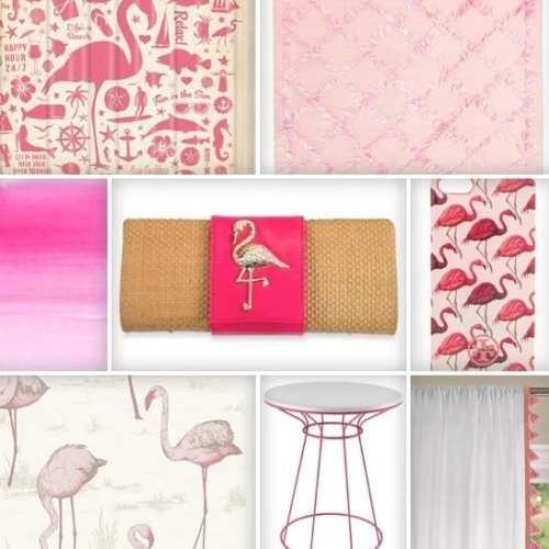 the hunted interior : flamingos!
