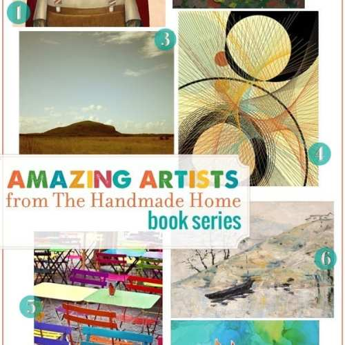 the handmade home book series : amazing artists (2)