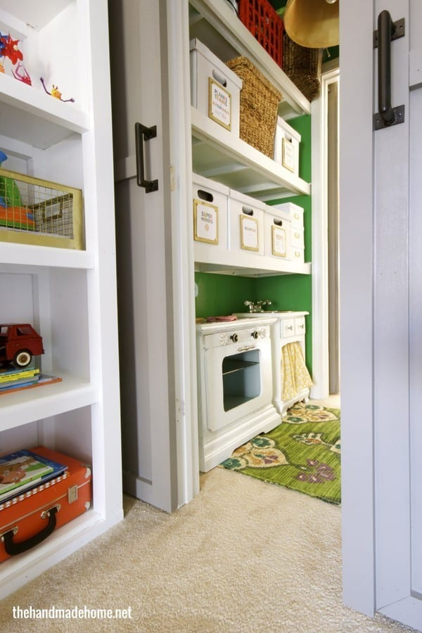 diy double barn doors - closet