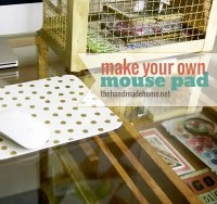 make your own mouse pad