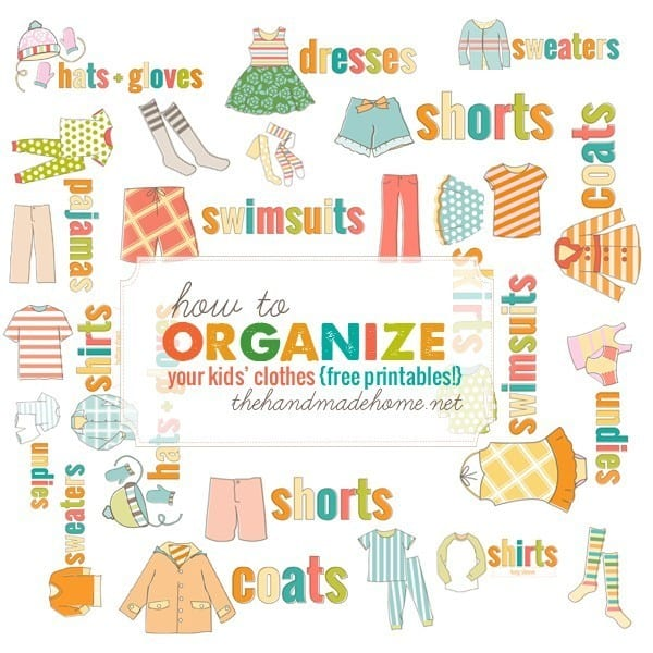 graphic regarding Printable Clothing Labels identify how towards set up small children garments - The Homemade Residence