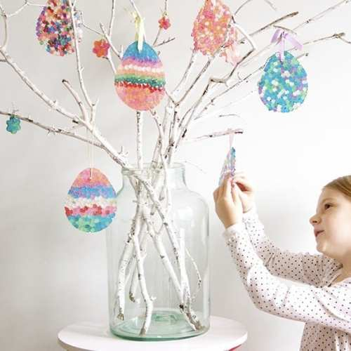 how to make an easter egg tree {diy sun catchers}