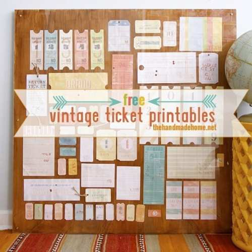 a life well-lived: free vintage tag & ticket printables