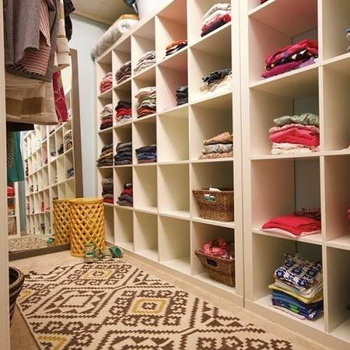 family closet: the shelving